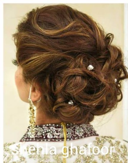 Latest Wedding-Bridal Hairstyle Best for Long-Short Curly Hair Cuts-9
