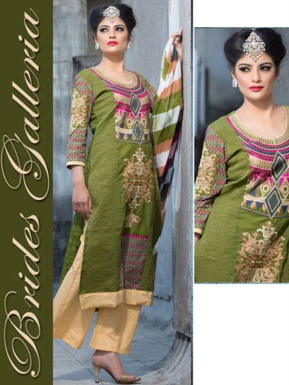 New Embroidered-Printed Cotton Punjabi Shalwar Kameez Suits Design for Girls-Women-