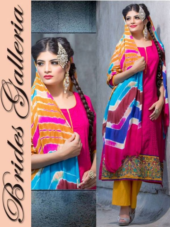 New Embroidered-Printed Cotton Punjabi Shalwar Kameez Suits Design for Girls-Women-2