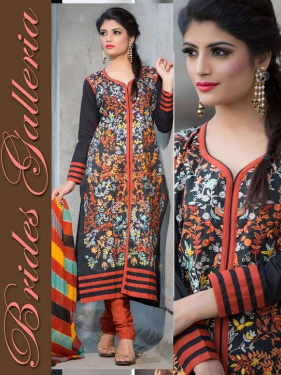 New Embroidered-Printed Cotton Punjabi Shalwar Kameez Suits Design for Girls-Women-3