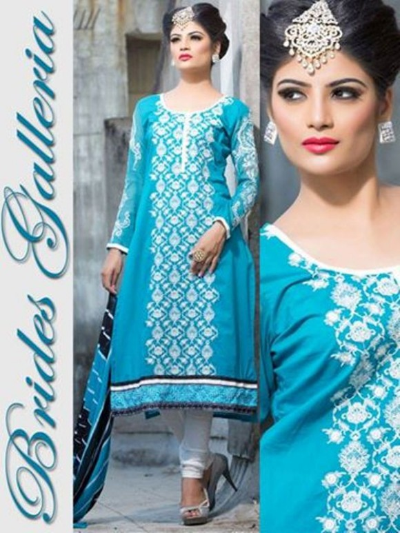 New Embroidered-Printed Cotton Punjabi Shalwar Kameez Suits Design for Girls-Women-4