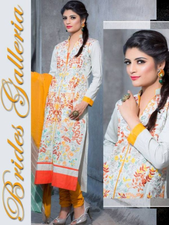 New Embroidered-Printed Cotton Punjabi Shalwar Kameez Suits Design for Girls-Women-5