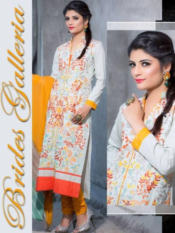 New Embroidered-Printed Cotton Punjabi Shalwar Kameez Suits Design for Girls-Women-5