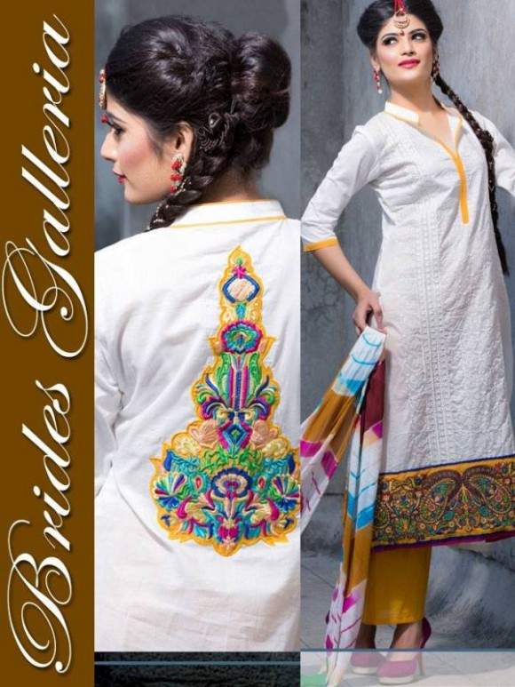 New Embroidered-Printed Cotton Punjabi Shalwar Kameez Suits Design for Girls-Women-6