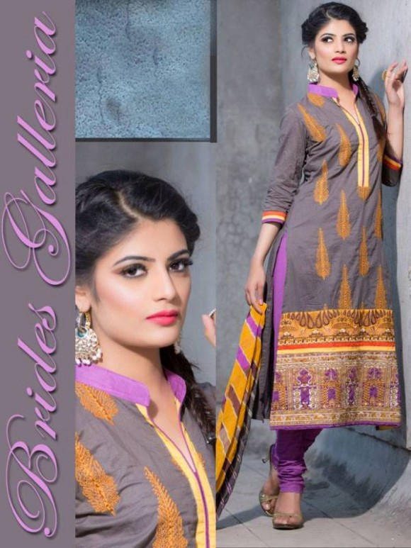 New Embroidered-Printed Cotton Punjabi Shalwar Kameez Suits Design for Girls-Women-7