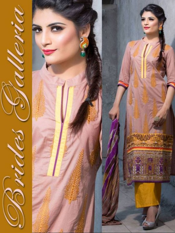New Embroidered-Printed Cotton Punjabi Shalwar Kameez Suits Design for Girls-Women-8