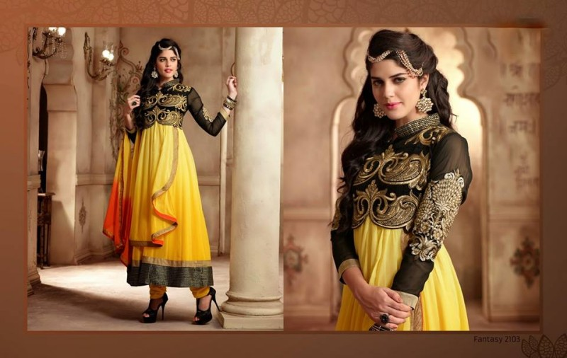 Saheli Couture Indo Western Style Anarkali Maxi Gown Frock Suits Design New Fashion-2