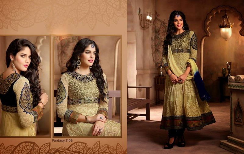 Saheli Couture Indo Western Style Anarkali Maxi Gown Frock Suits Design New Fashion-3