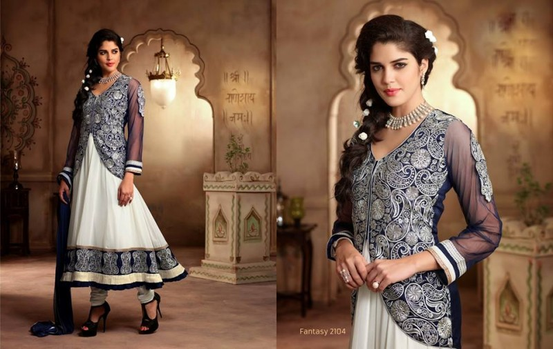 Saheli Couture Indo Western Style Anarkali Maxi Gown Frock Suits Design New Fashion-5