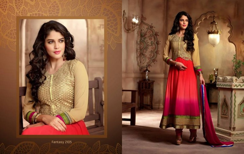 Saheli Couture Indo Western Style Anarkali Maxi Gown Frock Suits Design New Fashion-6