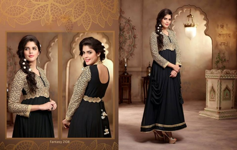 Saheli Couture Indo Western Style Anarkali Maxi Gown Frock Suits Design New Fashion-7