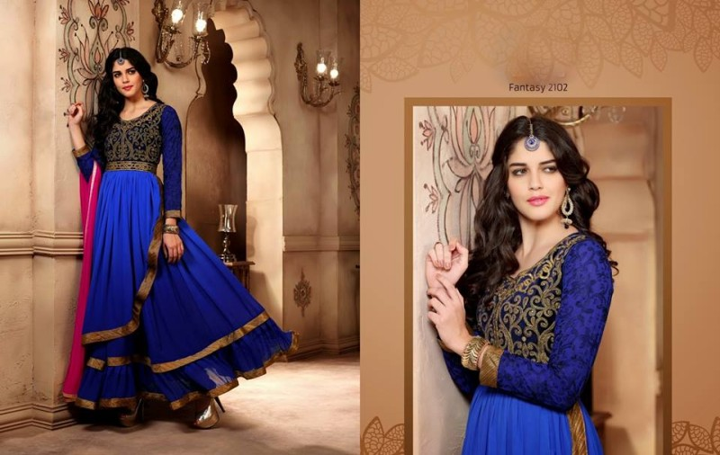 Saheli Couture Indo Western Style Anarkali Maxi Gown Frock Suits Design New Fashion-8