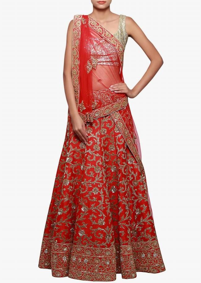 Wedding-Bridal Wear Lehanga-Sharara-Choli Suits by New Fashion Dress Designer-1