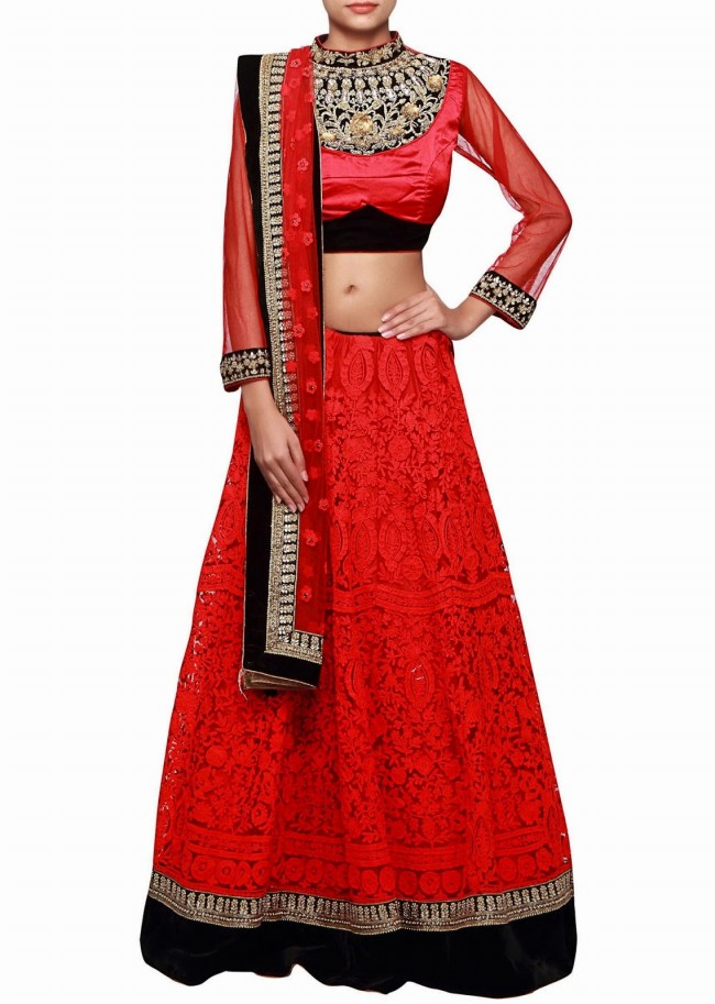 Wedding-Bridal Wear Lehanga-Sharara-Choli Suits by New Fashion Dress Designer-11