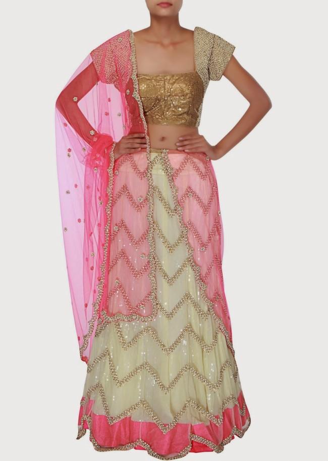 Wedding-Bridal Wear Lehanga-Sharara-Choli Suits by New Fashion Dress Designer-12