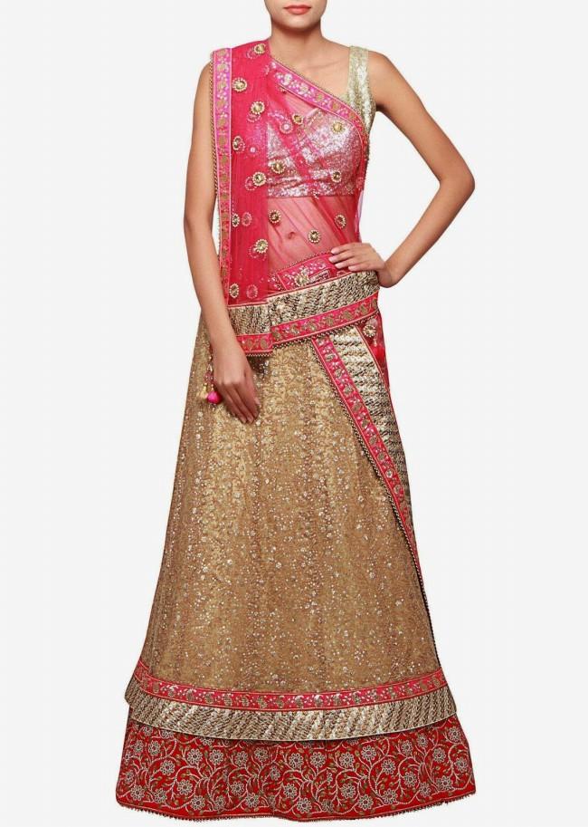 Wedding-Bridal Wear Lehanga-Sharara-Choli Suits by New Fashion Dress Designer-2