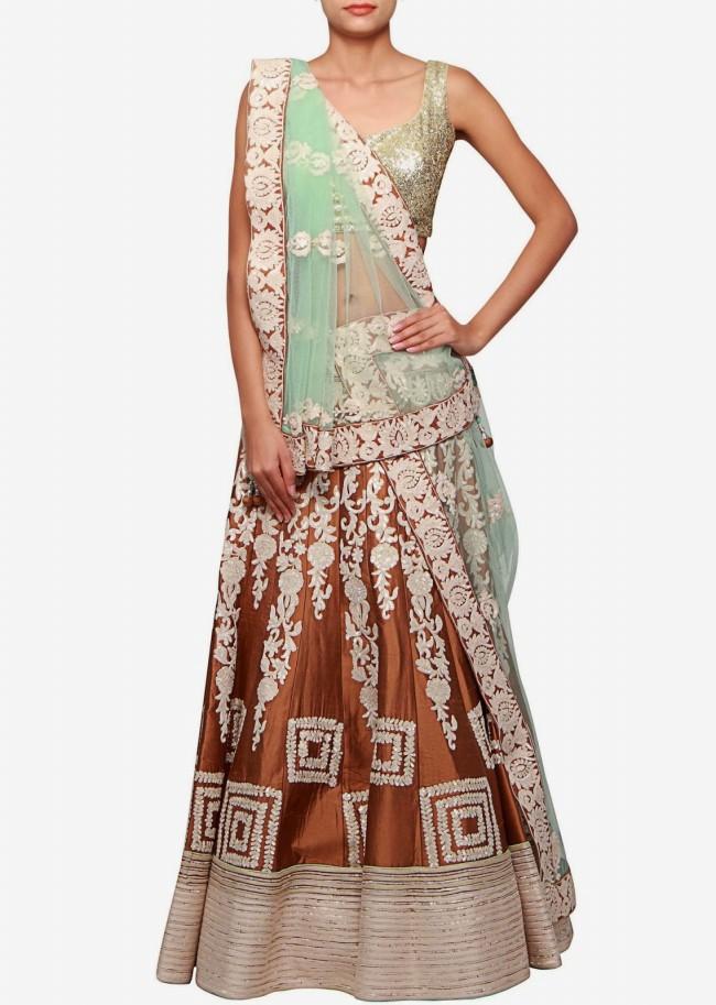 Wedding-Bridal Wear Lehanga-Sharara-Choli Suits by New Fashion Dress Designer-3