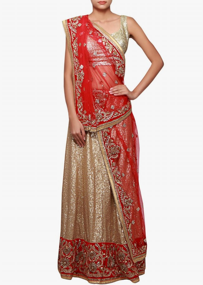 Wedding-Bridal Wear Lehanga-Sharara-Choli Suits by New Fashion Dress Designer-5