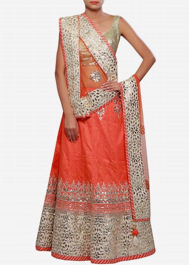 Wedding-Bridal Wear Lehanga-Sharara-Choli Suits by New Fashion Dress Designer-6