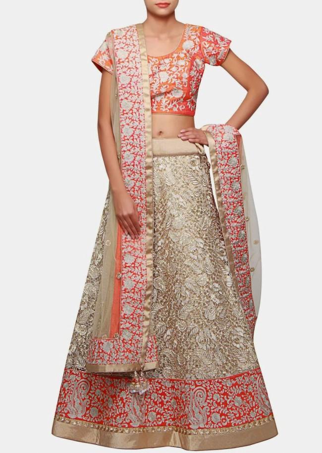 Wedding-Bridal Wear Lehanga-Sharara-Choli Suits by New Fashion Dress Designer-7