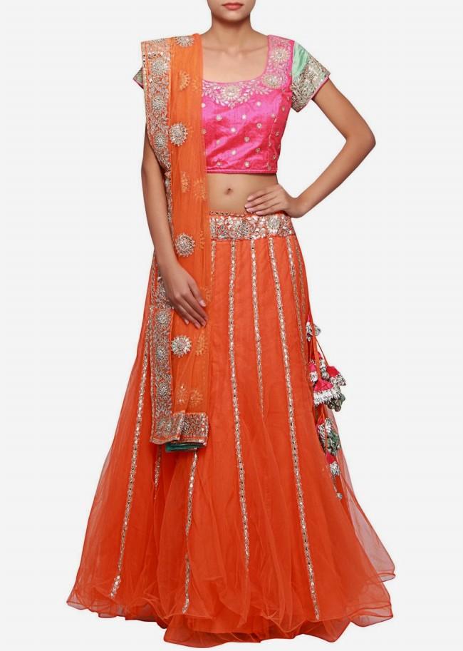 Wedding-Bridal Wear Lehanga-Sharara-Choli Suits by New Fashion Dress Designer-8