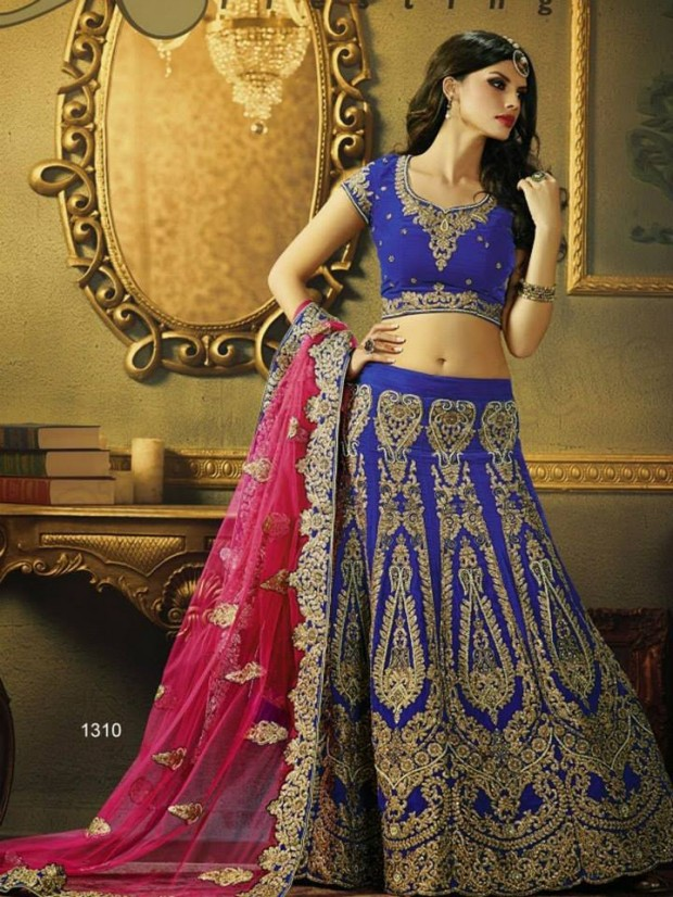 Beautiful Bridal-Wedding Wear Lehenga-Sharara-Choli Design New Fashion Dress-2