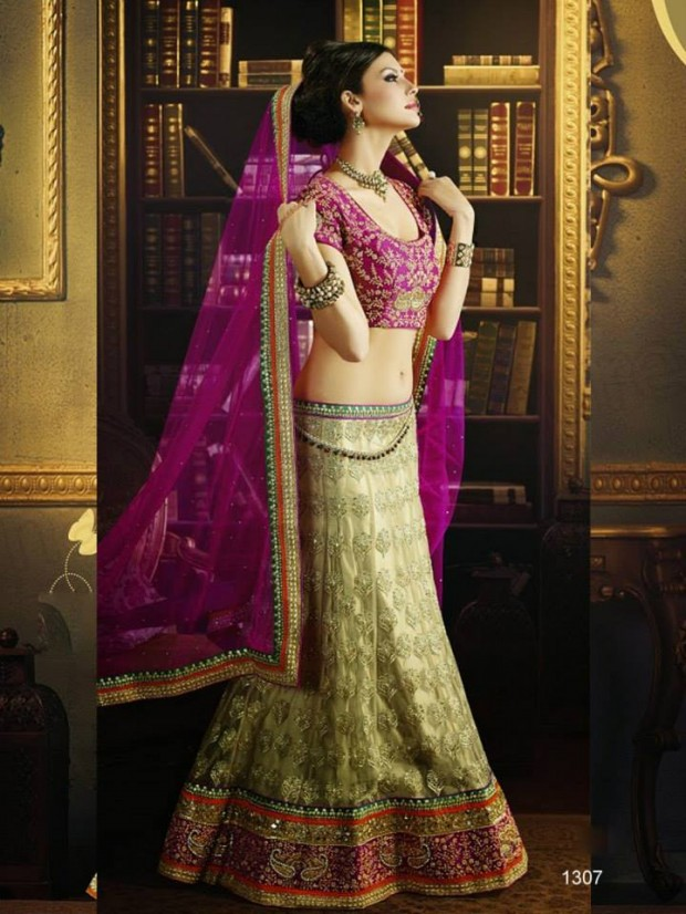 Beautiful Bridal-Wedding Wear Lehenga-Sharara-Choli Design New Fashion Dress-4
