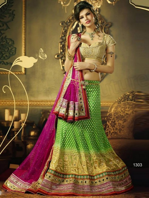 Beautiful Bridal-Wedding Wear Lehenga-Sharara-Choli Design New Fashion Dress-5