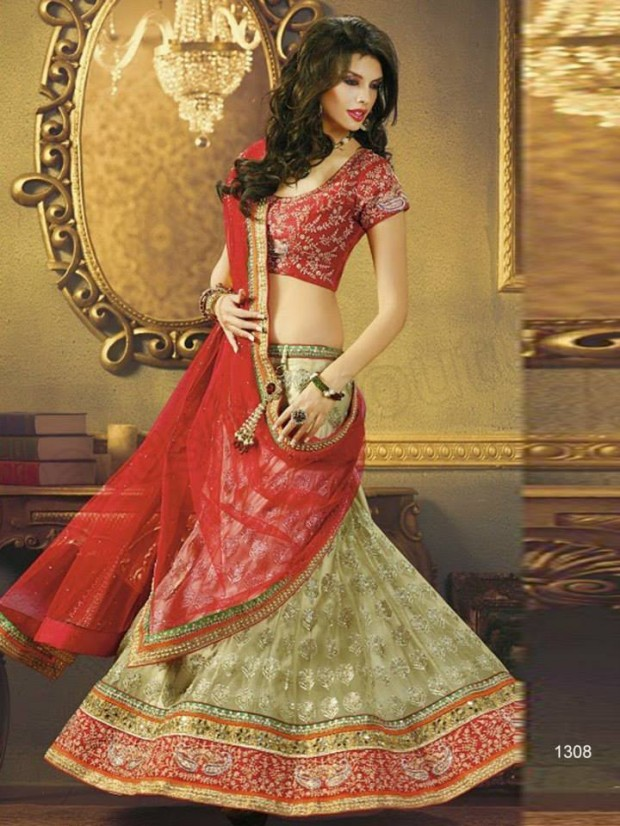 Beautiful Bridal-Wedding Wear Lehenga-Sharara-Choli Design New Fashion Dress-6