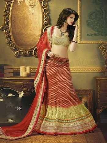 Beautiful Bridal-Wedding Wear Lehenga-Sharara-Choli Design New Fashion Dress-8