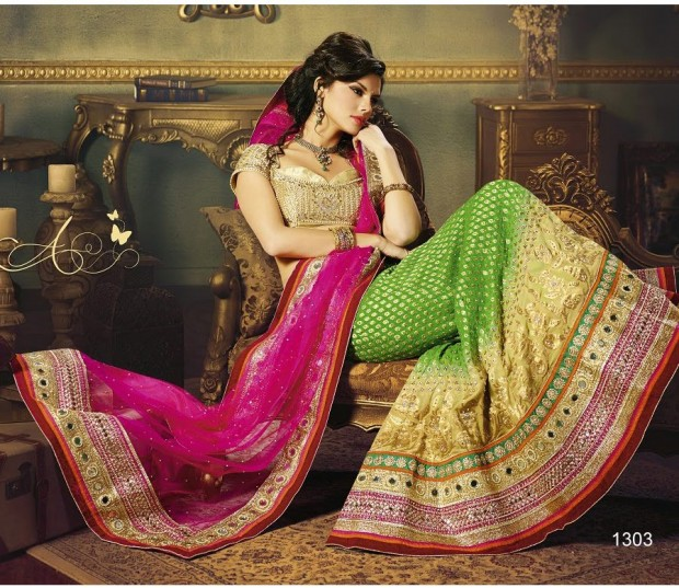 Beautiful Bridal-Wedding Wear Lehenga-Sharara-Choli Design New Fashion Dress-