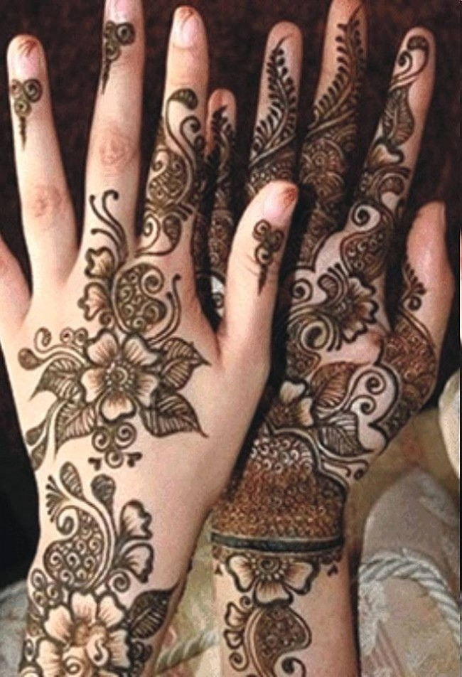 New Look Beautiful Eid-Chand Raat Best Mehndi Design For Girls Hands-2
