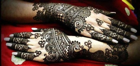 New Look Beautiful Eid-Chand Raat Best Mehndi Design For Girls Hands-6