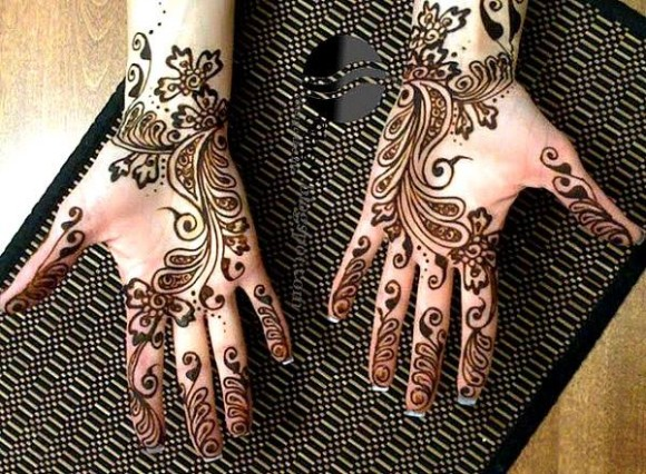 New Look Beautiful Eid-Chand Raat Best Mehndi Design For Girls Hands-7