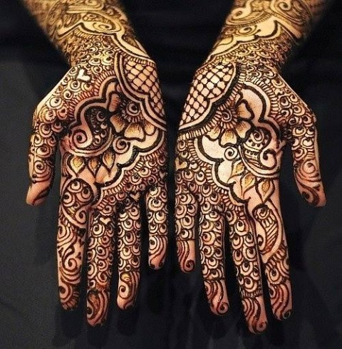 New Look Beautiful Eid-Chand Raat Best Mehndi Design For Girls Hands-9