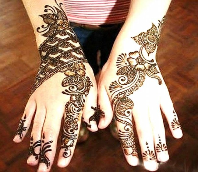 New Look Beautiful Eid-Chand Raat Best Mehndi Design For Girls Hands-