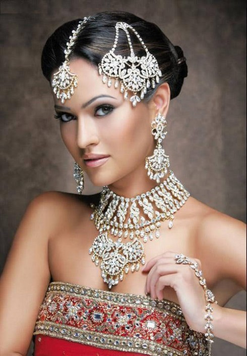 Wedding-Bridal New Fashion Hairstyles and Makeup Ideas For Indian Girls-Brides-Dulhan-4
