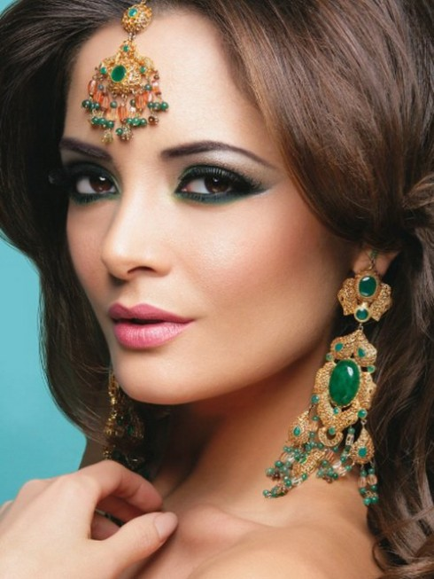 Wedding-Bridal New Fashion Hairstyles and Makeup Ideas For Indian Girls-Brides-Dulhan-6