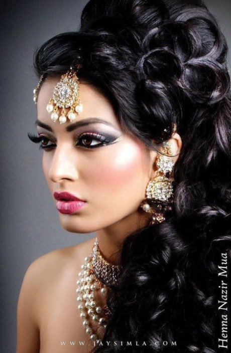 Wedding-Bridal New Fashion Hairstyles and Makeup Ideas For Indian Girls-Brides-Dulhan-7