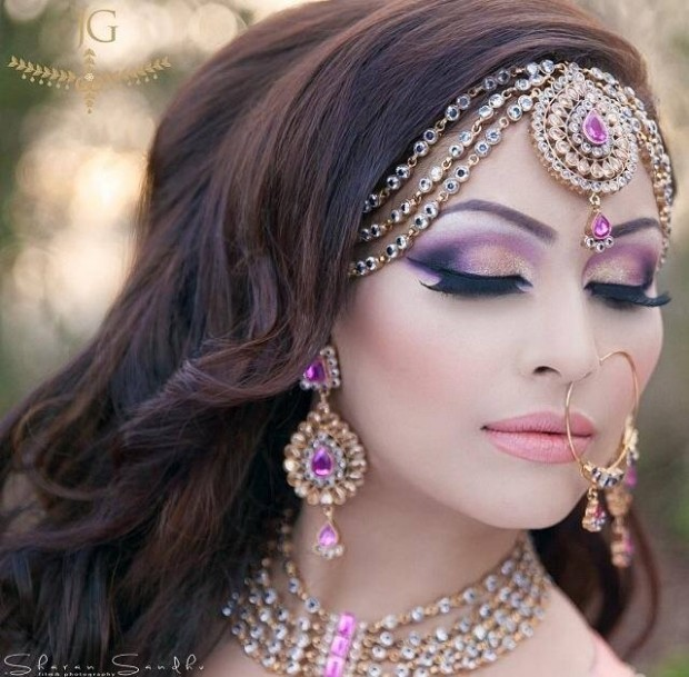 Wedding-Bridal New Fashion Hairstyles and Makeup Ideas For Indian Girls-Brides-Dulhan-