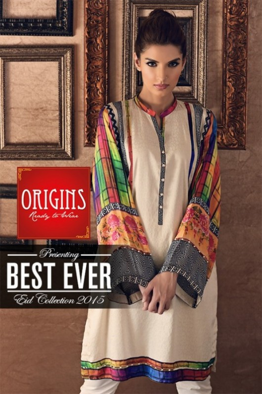 Origins Ready to Wear New Summer Fashionable Eid Dress for Girls-2
