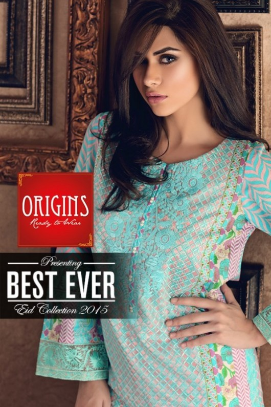 Origins Ready to Wear New Summer Fashionable Eid Dress for Girls-3
