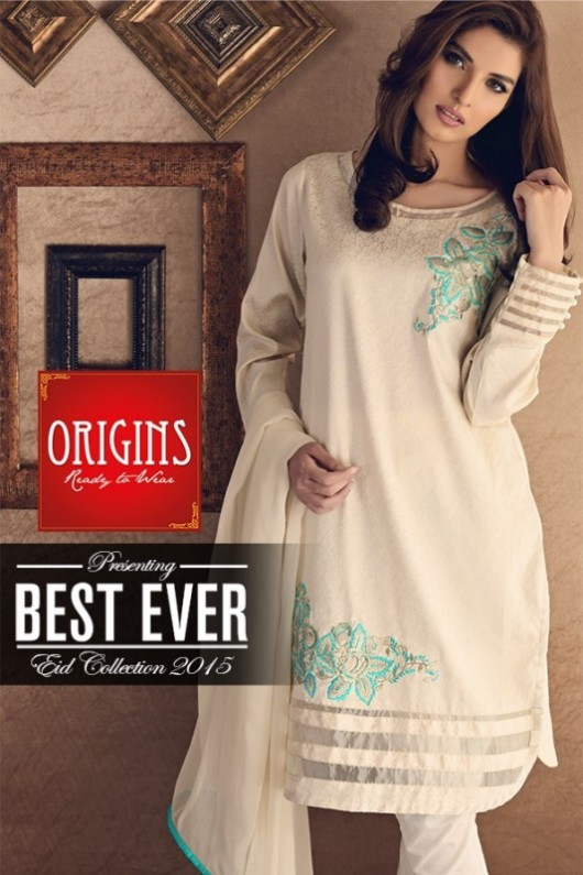 Origins Ready to Wear New Summer Fashionable Eid Dress for Girls-4