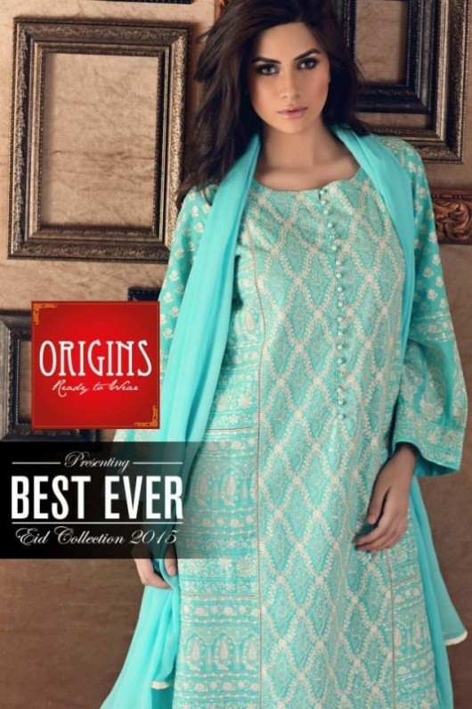 Origins Ready to Wear New Summer Fashionable Eid Dress for Girls-