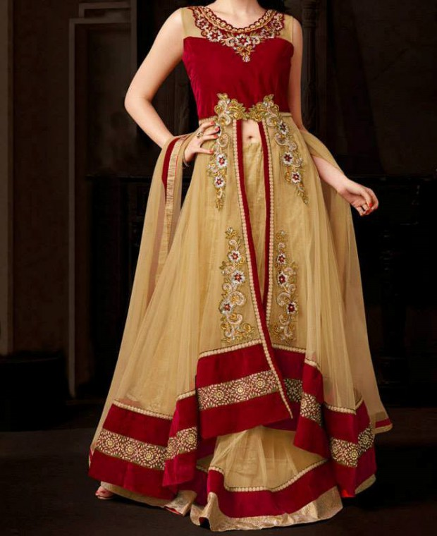 Bridal-Wedding Wear Dresses Design 2015 by Utsav Fashion New Suits-2