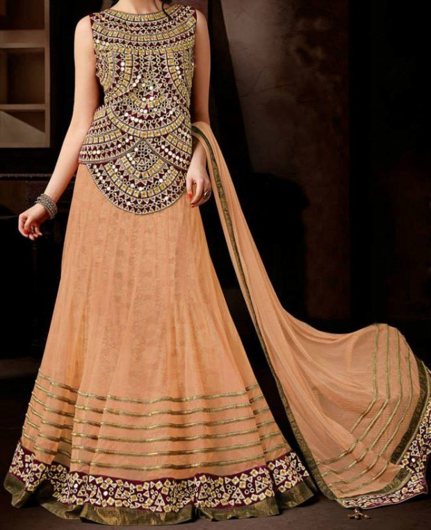 Bridal-Wedding Wear Dresses Design 2015 by Utsav Fashion New Suits-4