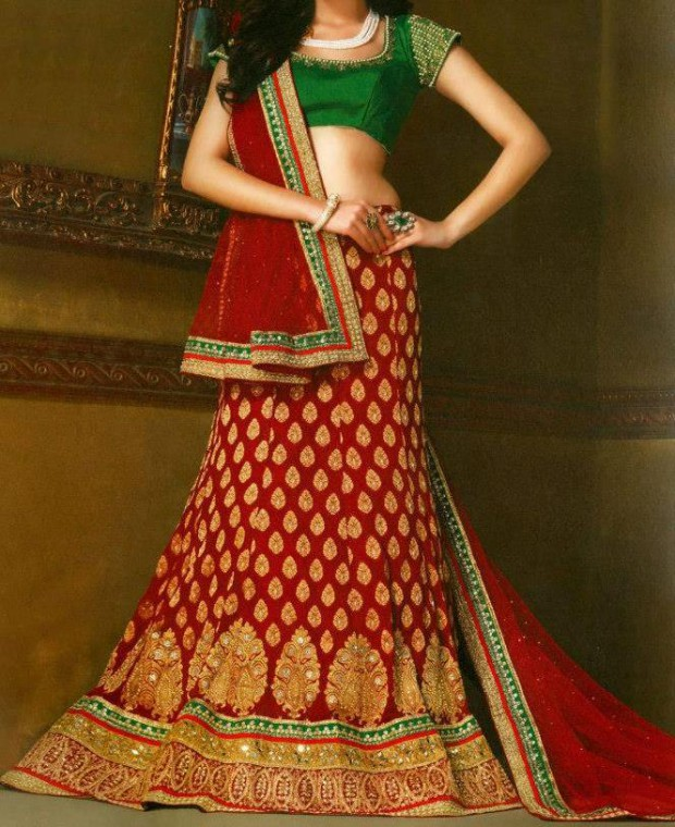 Bridal-Wedding Wear Dresses Design 2015 by Utsav Fashion New Suits-5