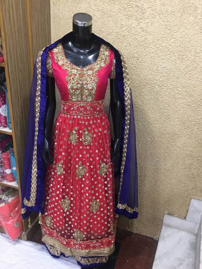 Indo Western Designer Wedding-Bridal Wear Suits New Fashion Dress-9