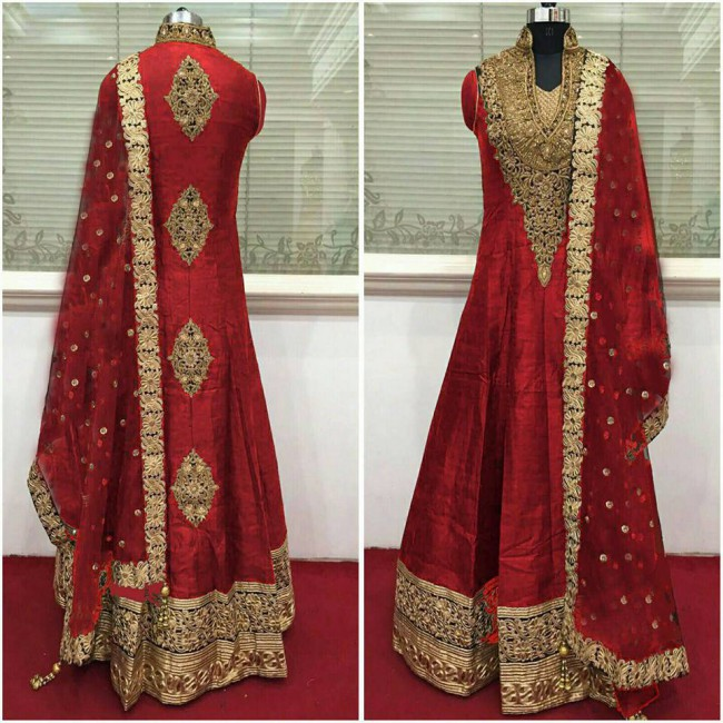 Indo Western Designer Wedding-Bridal Wear Suits New Fashion Dress-