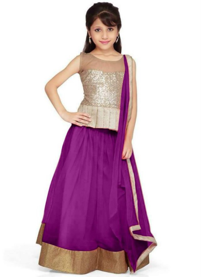 322dc78662d0 Kids-Child-Baby Girls Wear Lehenga-Choli-Sharara Dress Design Catalogue for